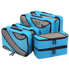 6 set packing cubes 3 various sizes travel luggage packing organizers