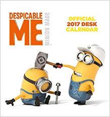 Despicable Me Official 2017 Desk Easel Calendar Minions Month To