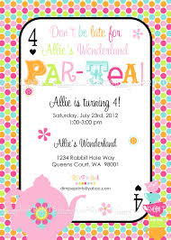 kids tea party invitation wording create your own wedding