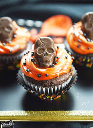 butterfinger skull cupcakes sprinkle some fun