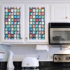 faux stained glass kitchen cabinets gila 36 in x 78 in privacy stained glass atlantis