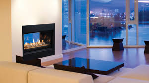 accessories stunning gas see through fireplace including cherry