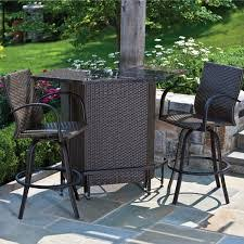 Bamboo Patio Set by Inspirations Bar Style Patio Furniture And Bamboo Patio Furniture