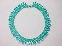 crystal bead necklace images Free pattern for beautiful beaded necklace crystal sky beads magic jpg