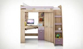 armoire bureau intégré lit en hauteur combiné avec bureau armoire et rangement intégré