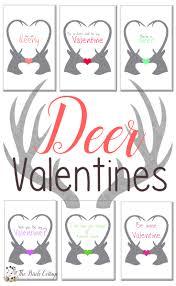 free printable deer valentines u0026 valentines day ideas the birch
