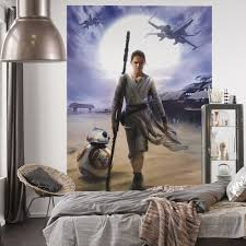 star wars rey wall mural great kidsbedrooms the children home star wars rey wall mural