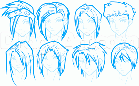 how to draw anime hair for beginners step by step anime hair