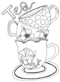 tea party coloring pages google craft ideas