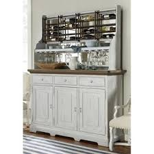paula deen home dogwood buffet table with wine rack in blossom