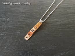 Stamped Initial Necklace Hand Stamped Custom Jewelry