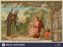 esau selling his birthright to his twin brother jacob in return
