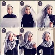 tutorial memakai jilbab paris yang simple tutorial hijab pashmina wajah bulat ernasofwan pinterest