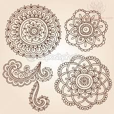 flowers henna paisley pattern tattoo designs