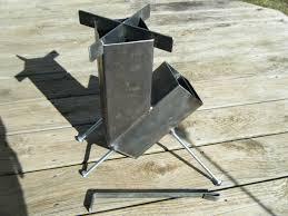 construcción de acero soldado de cohete estufa auto estufas