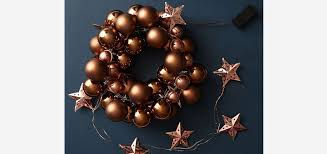 Homebase Christmas Decorations Half Price how to make a bauble wreath at homebase co uk