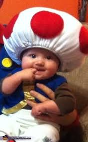 Baby Minion Costume Luigi Mario And Baby Toadstool Our First Dyi Halloween Costume