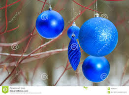 outdoor decorations with blue sparkles bauble