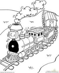 toy train coloring page worksheets toy and craft