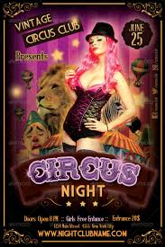 halloween party flyers templates circus night party flyer template by gabrielmatari graphicriver