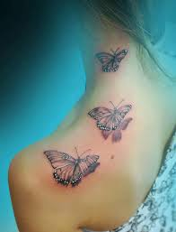 71 sweet butterfly neck tattoos