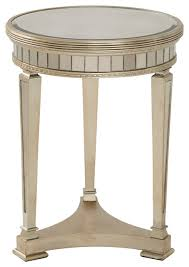 mirrored pyramid living room accent side end table borghese round mirrored end table traditional side tables and inside