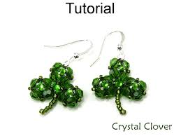 pattern crystal necklace images Beading tutorial pattern earrings necklace st patrick 39 s day JPG
