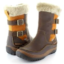 merrell womens boots uk merrell womens waterproof decora chant walking winter boots brown