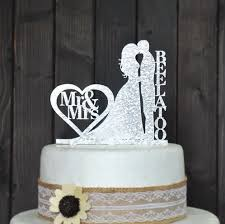 wedding cake name custom wedding cake topper personalized with your last name