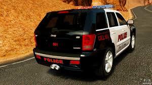 police jeep grand cherokee jeep grand cherokee srt8 2008 police els для gta 4