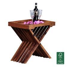 beistelltische landhaus finebuy beistelltisch massivholz design klapptisch serviertablett