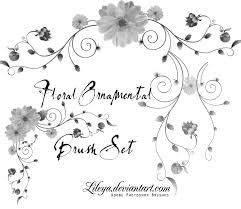 floral ornamental brush set decorative photoshop brushes