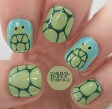 one nail to rule them all turtle nail nails nailart