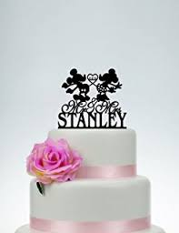 customized cake toppers mickey cake topper custom wedding cake topper