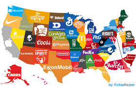 Usa Map By State by Most Famous Brand By State Map General Design Chris