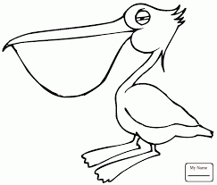 funny flying pelican birds pelicans coloring pages colorpages7 com