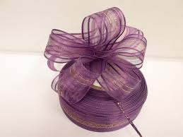pull ribbon violet purple 2 or 25 metres 25mm fasbo pull bow ribbon roll craft