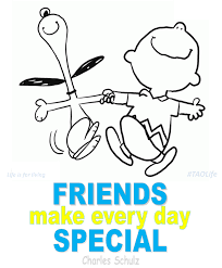 happy thanksgiving charlie brown quotes poster u003e friends make every day special snoopy quote taolife