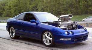 this 1994 acura integra coupe sports a 6 5 liter big block chevy v8