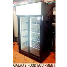 qbd double glass door fridge galaxy food equipment