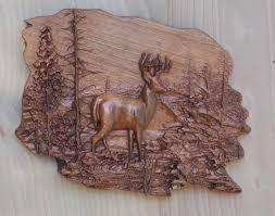 deer wood wall wood wall decor carved woods