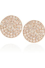 14 karat gold earrings ko 14 karat gold and diamond disc earrings jewelry trends