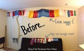 ribbon display diary of the overanxious owner easy diy ribbon display