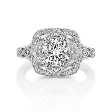 vintage halo engagement rings vintage halo engagement ring with pav eacute set diamonds