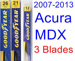 amazon com acura mdx 2007 2013 wiper blade kit set includes