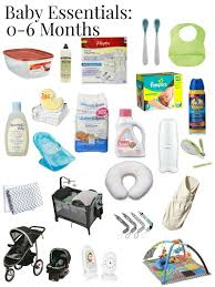 baby essentials a great list of true baby essentials for the 6 months no