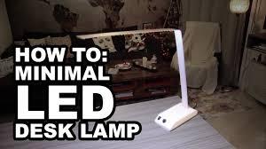 Diy Led Desk Lamp How To Diy Minimal Led Desk Lamp Youtube