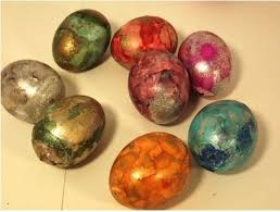 metallic easter eggs easter ideas coldwell banker haida realty