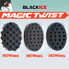 hair twist sponge amazon com 3pc black ice magic twist sponge hair brush all 3
