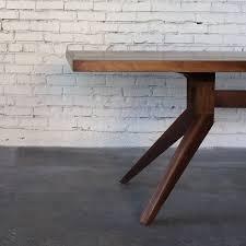 solid walnut dining table solid walnut dining table with angled legs walnut dining table